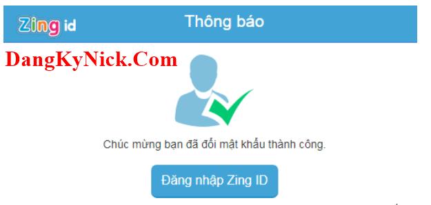hướng dẫn đổi mật khẩu zing id