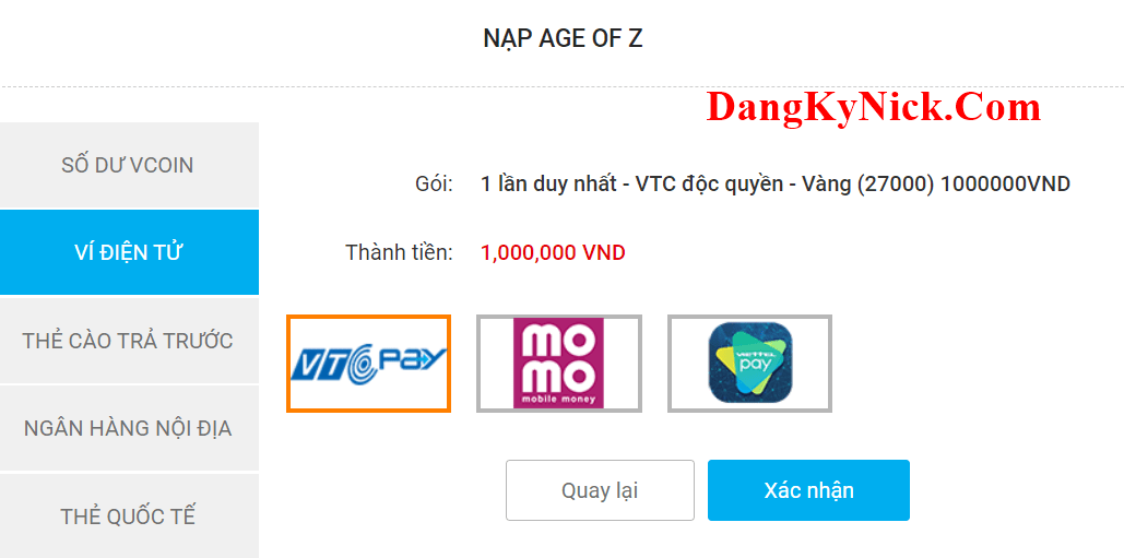 nạp age of z