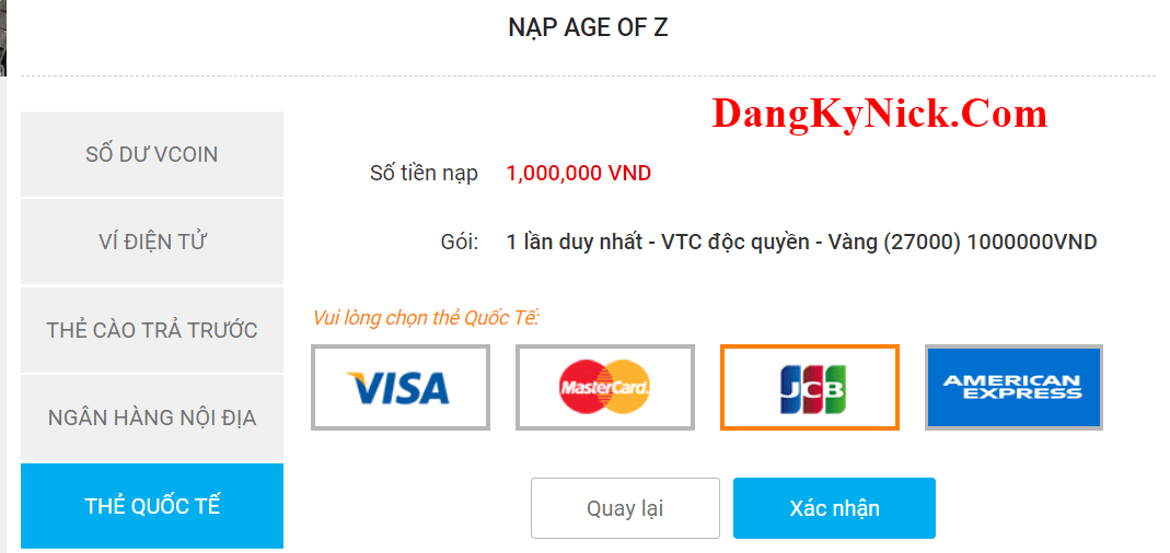 nạp game age of z