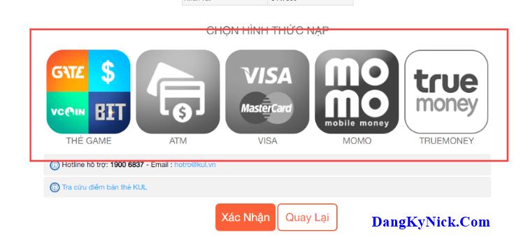 nạp thẻ nhẫn giả mobile