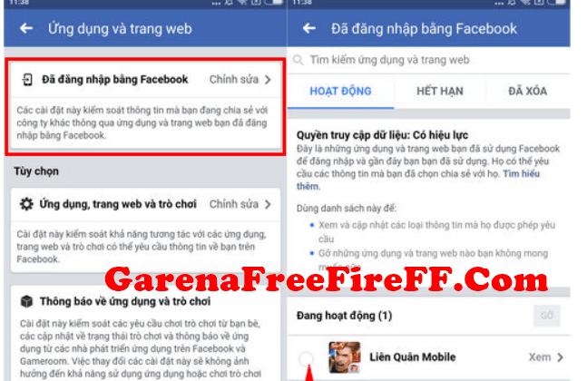 cách hủy liên kết Facebook với Garena free fire